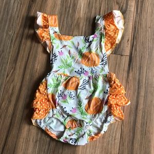 Other - New Pumpkin Patch fall ruffle baby romper outfit